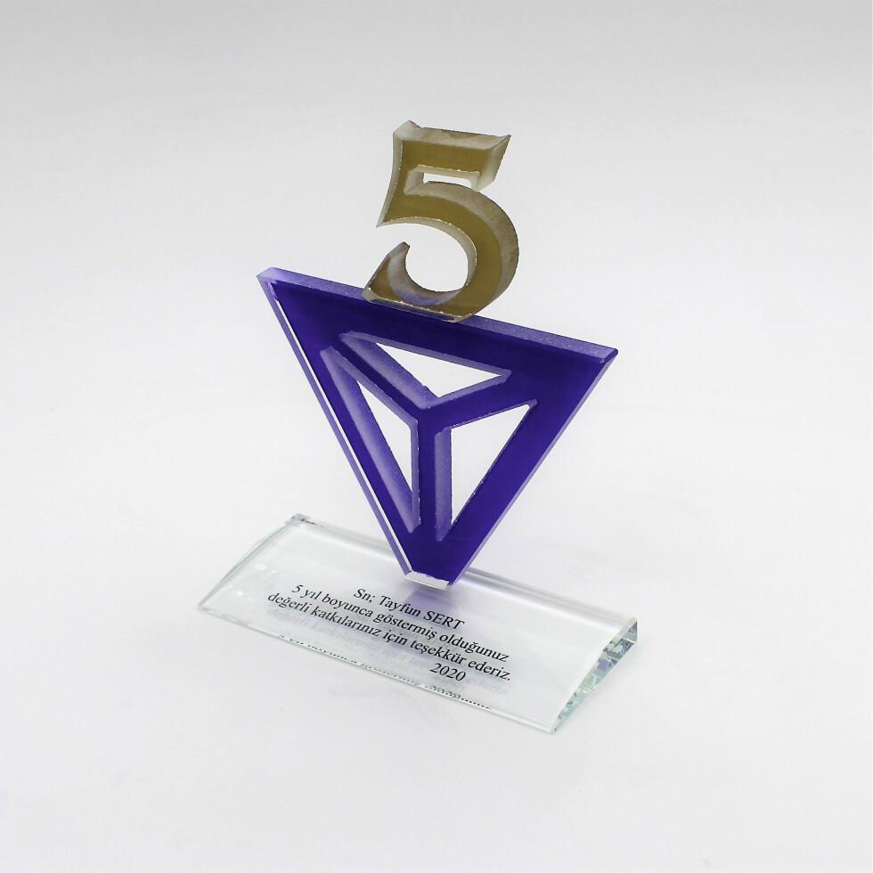 5 Numara Kristal Plaket